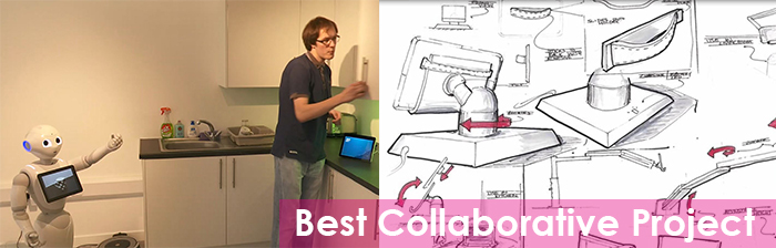 Collage of the entrants to best new collaborative project