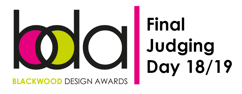 Header Image of Blackwood Design Awards logo along with the caption Jdging Day 18 / 19