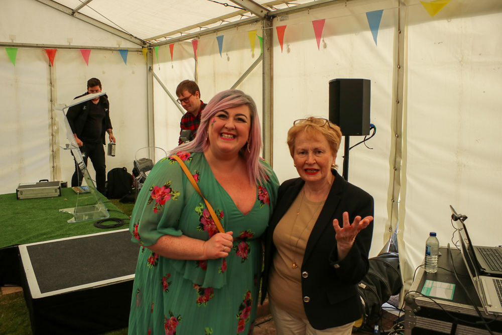 Michelle McManus with Fanchea smiling