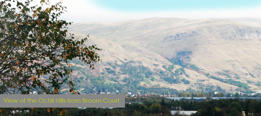 View of Ochil Hills from Broom Court